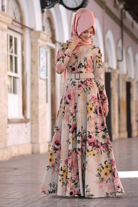 c800e2f9e4a35 cicekli-percem-elbise-1 – Zarif Tesettür Giyim